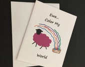 Greeting Card / Ewe Color my World