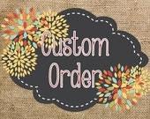 Custom Order- Lauren- Purple, Turquoise & Lime Class Decor Pack