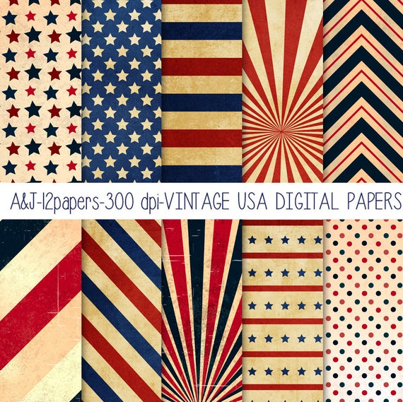 Scrapbooking pattern, Independence Day papers, Independence Day