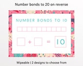 Number bonds to 20, Childrens Learning Mat, KS1, Learning Resources, Home school, Educational worksheets, Numeracy, Maths aid, Educational