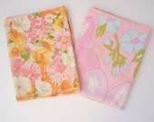 Mod floral pillow cases, PINK mix & match, 60s 70s pillow cases, standard, Cannon,  Penneys
