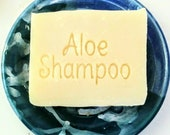 Sesame Aloe Vera Shampoo Bar - Vegan Formula - Formulated for Thin Hair, Sensitive, Dry Flaky Scalp