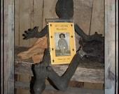 Primitive black doll kit pattern Lucys Lazy Dayz Primitives OFG faap