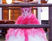 Dip Dye Wedding Dress, Pink Ombre Wedding Dress, Pink Wedding Dress, Pink Wedding Gown, Pink Bridal Gown