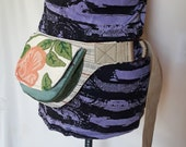 Embroidered floral utility belt upcycled floral fanny pack belt with pockets