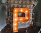 """16"""" H&D Metallic Silver/Rust Paper Mache Marquee Letters"""