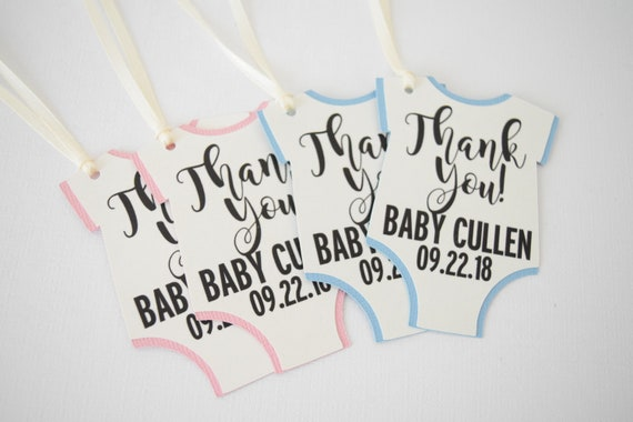 Baby Shower Favor Tags Favor Tags Onesie Favor Tags Baby Favor