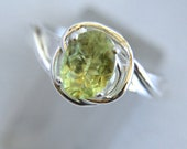 Love Knot - Green Tourmaline gemstone ring - reserved for Kim