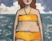 Oil painting portrait - Hortense - Original art
