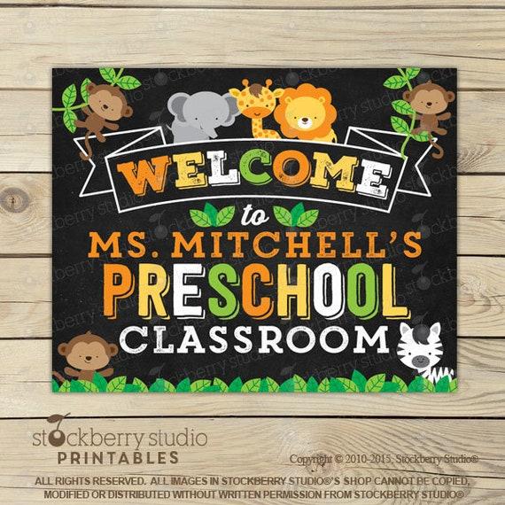 safari jungle classroom welcome sign classroom sign classroom