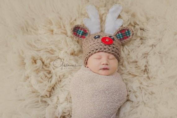 Baby Christmas Hat Baby Hat Newborn Christmas Hat Newborn Hat