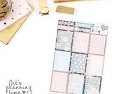 Midnight Floral Full Box Checklist Planner Stickers