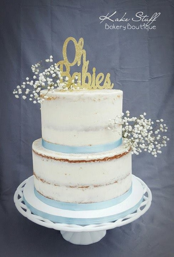 Oh Babies Cake Topper Baby Shower Cake Topper Twins Cake Topper