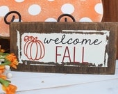 mini welcome fall sign