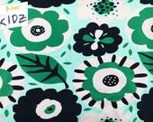 19.88Euro/m Bio-Summersweat beige grün dunkelbau Blumenmotive, Lillestoff, Bio, Sommersweat, Sweat, Blumen, biberkidz, 0.25m=Stückzahl1