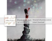 Fairy Art To Print - Fairy Art Prints - Download - January Birthday Gift - Wall Art - Art Prints - Digital Download - Gift For Teens - Card