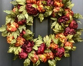 Fall Wreaths, Thanksgiving Decor, Thanksgiving Wreaths,  Wreaths, Wreath for Front Door, Fall Door Wreaths, Fall Decorative Wreaths