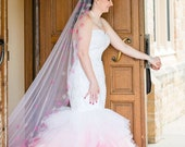 Pink Ombre Wedding Dress, Pink Wedding Dress, Ombre Wedding Dress, Mermaid Pink Wedding Dress, Dip Dye Wedding Dress