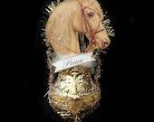 Victorian Christmas ornament. Horse ornament. Palamino ornament. Horse Christmas ornament. Vintage style ornament. Horses. horse WL1802