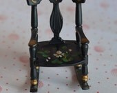 Vintage Dollhouse Painted Renwal Rocking Chair, Marked