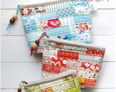PDF Scrappy Zipper Pouch Sewing Pattern in 3 sizes