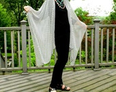 Black and White Checked Shawl, Cape, Caftan, Kimono, or Beach Coverup--Sheer, Light and Airy--One Size Fits Most Petite Gypsies