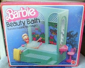 Vintage Barbie Beauty Bath - Doll Furniture - Near Complete in Original Box - 1970s Dollhouse Furniture - Hard to Find - Dream House, Tub