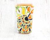 Twist Iced Coffee Cozy, Cup Cozy, Iced Coffee Cozy, Cup Sleeve, Coffee Cuff, Drink Sleeve