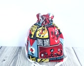 The Incredibles bag, Project bag, Knitting Project Bag, Project bag, Movie bag, drawstring bag, knitting bag, drawstring pouch, movie lover