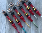 Incredibles themed ergonomic crochet hook, clay hook, ergonomic crochet hook, crochet hook, curvy hook