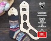 Wooden sock blockers (pair) Sheep - knitting gift idea, knitting tool, sock dryer, knitted socks