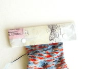 Knitting Needle Keeper DPN Cozy for 6 inch needles, Wallflower Botanical