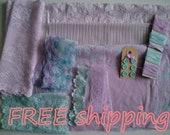 Vintage DOLLHOUSE Lingerie Craft Kit Lilac & Mint FREE shipping by Merckwaerdigh