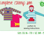 kids' long sleeve shirt (Skinny)John – Euro-size 86 – 170 / US-size 18M to 15 years | pdf pattern | ENGLISH VERSION 1.1