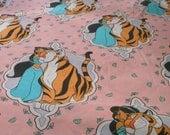 Vintage Princess Jasmine twin flat sheet, Aladdin sheets, Disney sheets, Collectible Disney, Rajah, Props, Staging