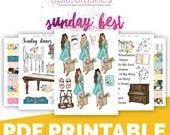 Sunday Best Bible Journaling Digital Download Printable