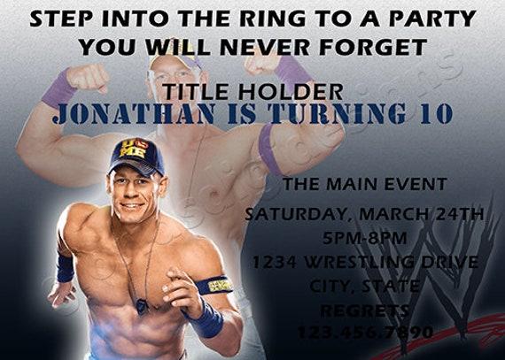 Wwe john cena wrestling birthday party invitation by glorias digi il570xn filmwisefo
