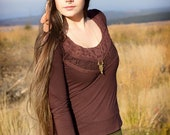 "Top ""Fairy Gypsy"" s-brown-"