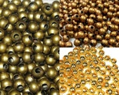50/200 spacer Metal Beads Round 6 mm choice Bronze copper gold balls Beads Jewelry Accessories