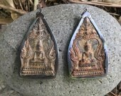 Large Brass or Bronze Sitting Buddha Pendant from Thailand - 3 Inches - 75 mm