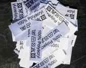 50 Textiletiketten Polyacryl