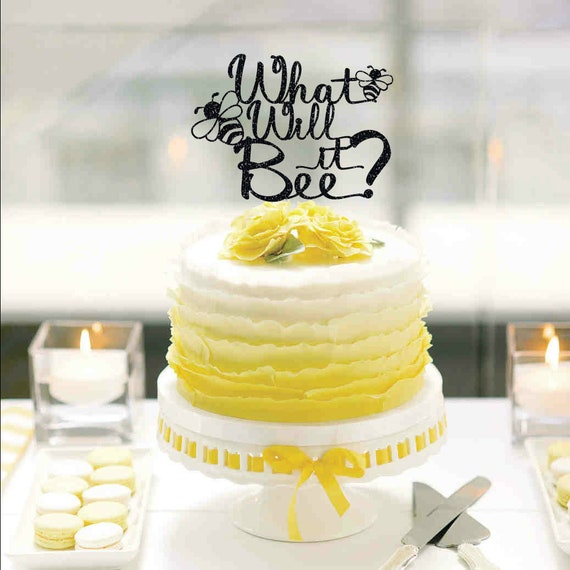 What Will it Bee Cake Topper - Bumble Bee Baby Shower Cake Topper ...