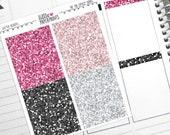 """28 Headers - """"At The Office"""" Glitter Series Stickers - Glitter Header Planner Stickers"""