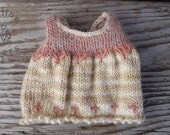 """Knitted Wool Dress for your 7"""" bear by Aerlinn Bears"""