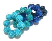 Baby, Toddler, Girls, Teen, Ladies All Bling Blue Sparkle Chunky bracelet - Navy chunky bracelet - Flower girl bracelet - Turquoise bracelet