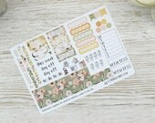 Fall Flowers Hobonichi Weekly Planner Stickers; Autumn Kit; Weekly Sticker Kit; Hobonichi Techo Cousin Sticker
