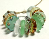 Handmade Lampwork Glass Beads - Atlantis Disks