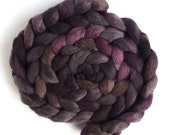Merino/ Silk Hand Spinning Roving (Top) - Hand Dyed, Stacked Cedar