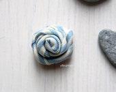 Men lapel pin - Flower lapel pin - Flower stick pin - Fabric boutonniere - pale blue - Striped boutoniere - Cotton lapel pin - Gift for him