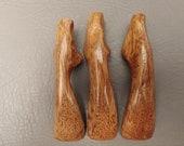Set of 3 Handmade Ergonomic Wooden Crochet Handles for RIGHT HAND
